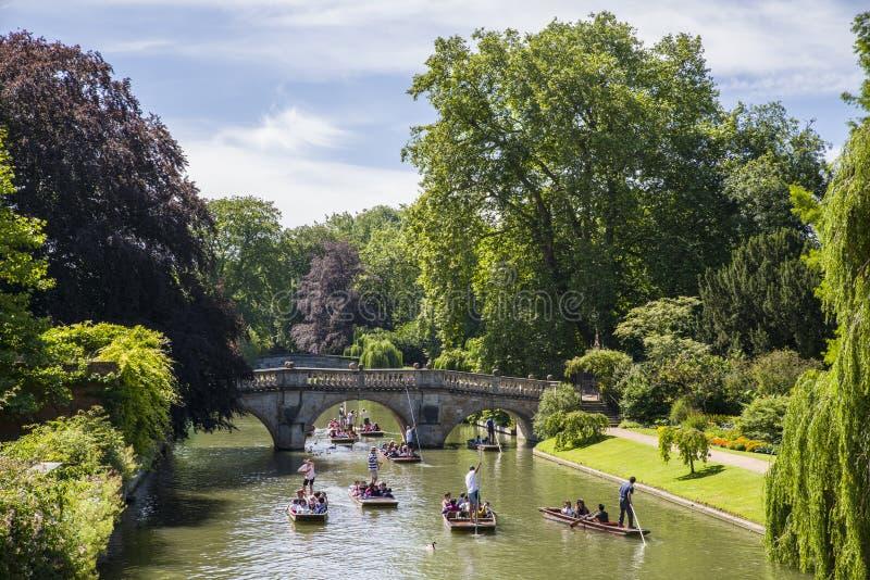 Clare Bridge in Cambridge stock image