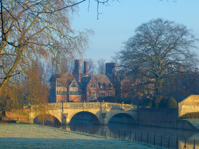 Clare College on River Cam, Cambridge stock photography