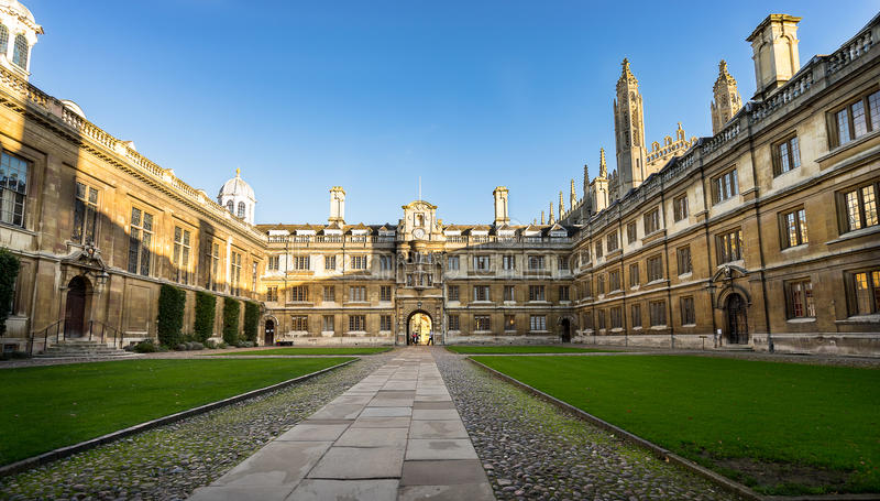 Clare College, universidad de Cambridge fotografía de archivo