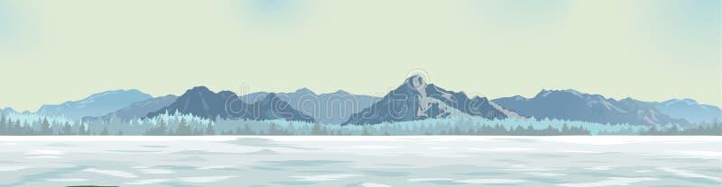 Clareira branca na perspectiva das montanhas fotografia de stock