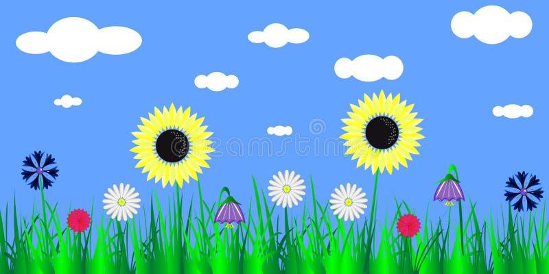 Clareira das flores ilustração do vetor