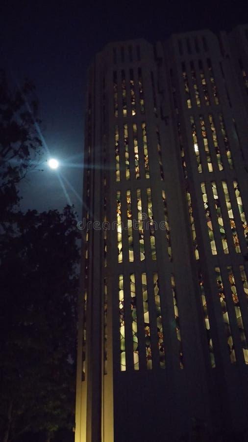 Claremont college full moon stock photos