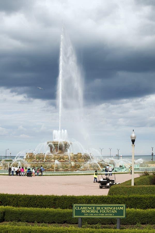 Clarence Buckingham Memorial Fountain al distri del parco di Chicago fotografia stock libera da diritti