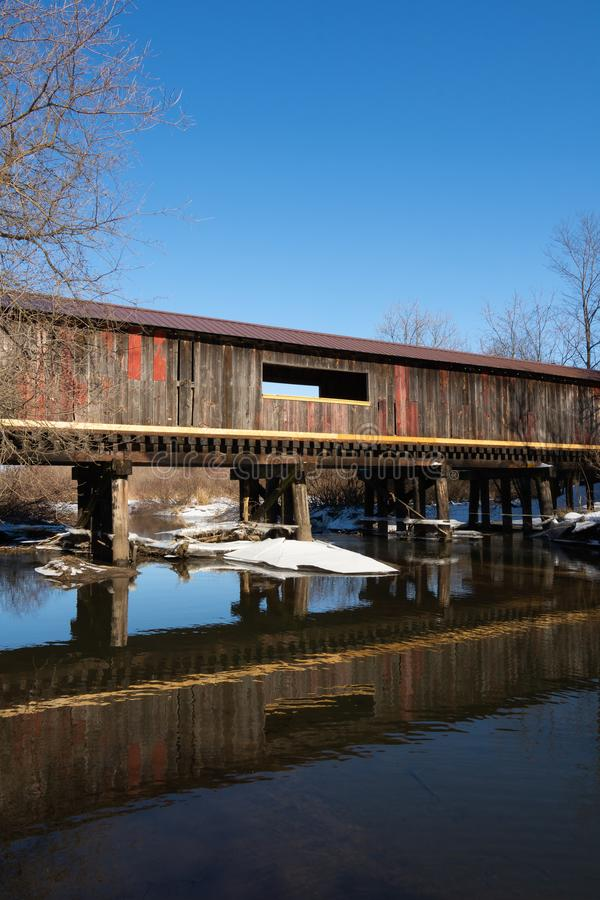 Clarence Covered Bridge fotografie stock libere da diritti