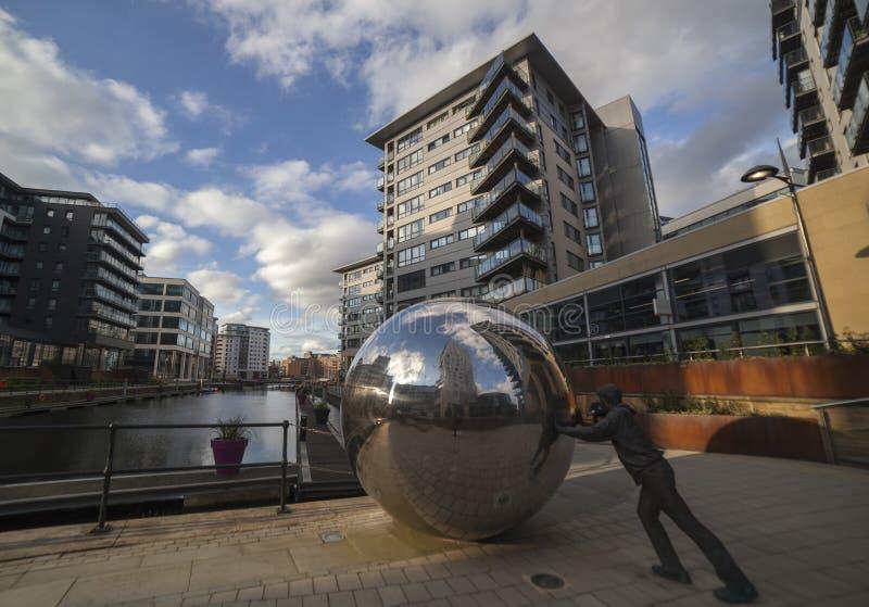 Clarence Dock en Leeds imagenes de archivo