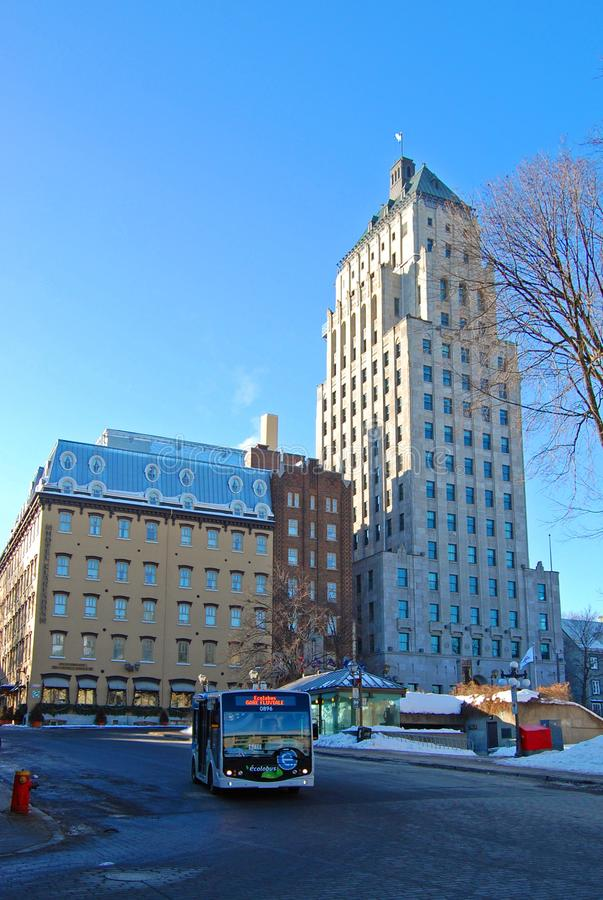 Clarendon Hotel and Edifice Price, Quebec, Canada royalty free stock image
