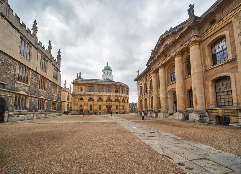 Clarendon quadrangle occupied by the old Old Bodleian Library . Oxford University. Oxford. England. Clarendon quadrangle is small square surrounded by the royalty free stock images