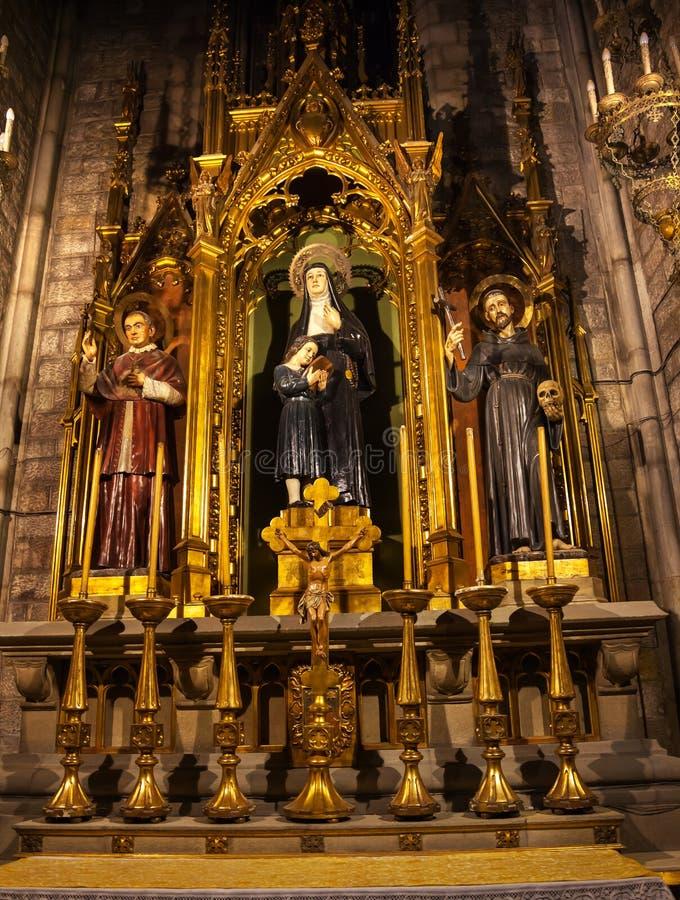 Claret do Sts Joaquima Francis Assisi Anthoy fotos de stock