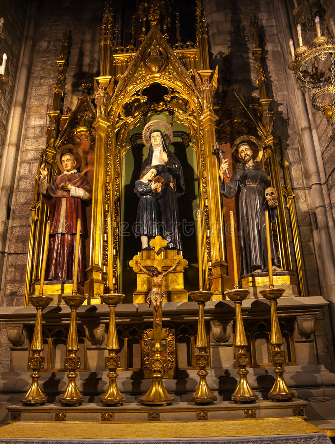 Claret för Sts Joaquima Francis Assisi Anthoy arkivfoton