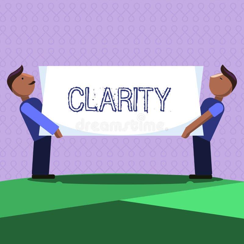 Claridad del texto de la escritura de la palabra Concepto del negocio para ser precisión clara comprensible inteligible coherente ilustración del vector