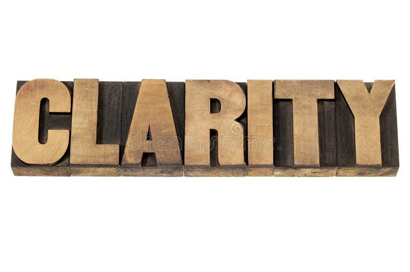 Claridad en el tipo de madera fotografía de archivo libre de regalías