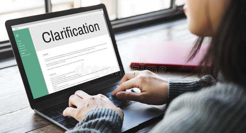Clarification Determination Explanation Question Concept.  royalty free stock images
