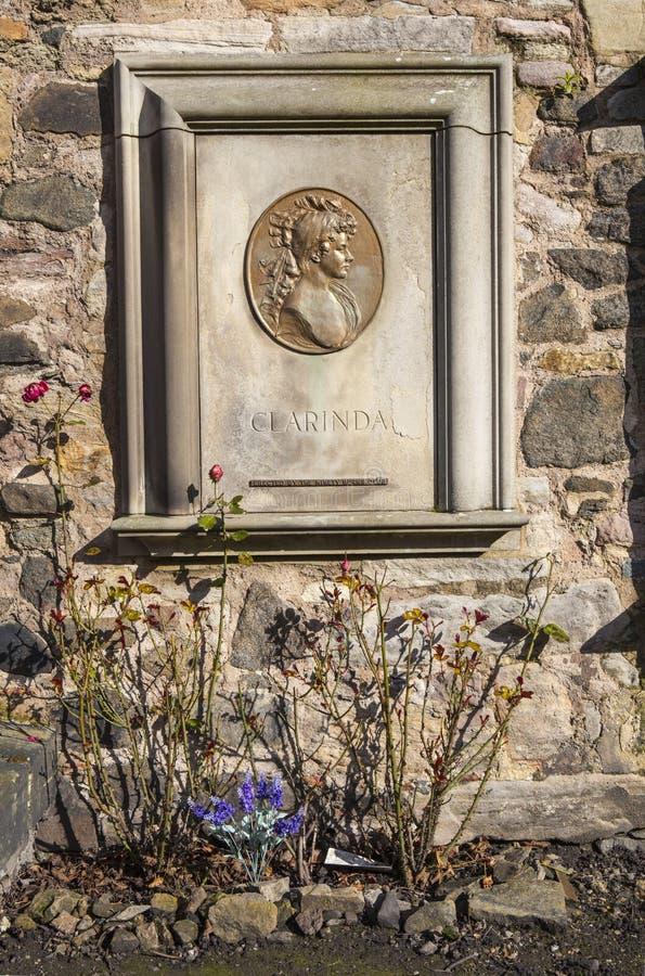 Clarinda Memorial i Edinburg arkivfoto