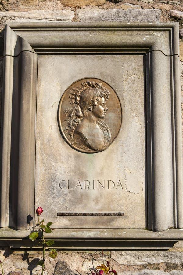 Clarinda Memorial i Edinburg arkivfoton