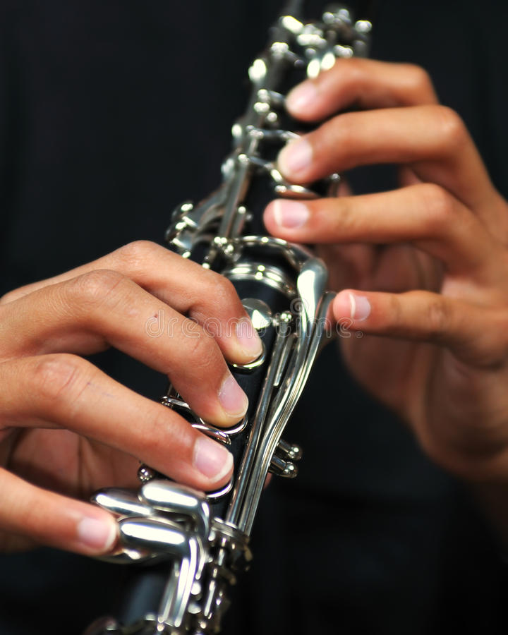 Download Clarinet stock image. Image of musical, playing, closeup - 11120427