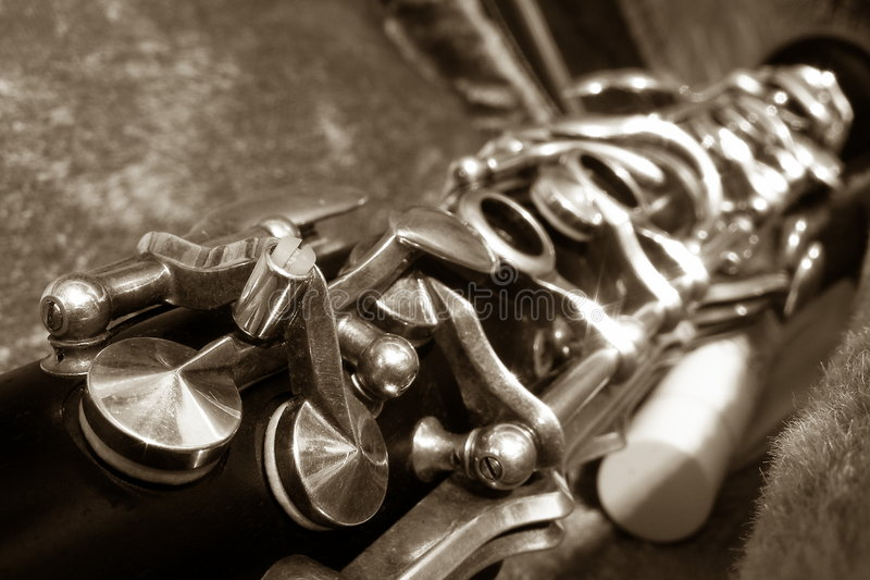 Clarinet, fotografia stock