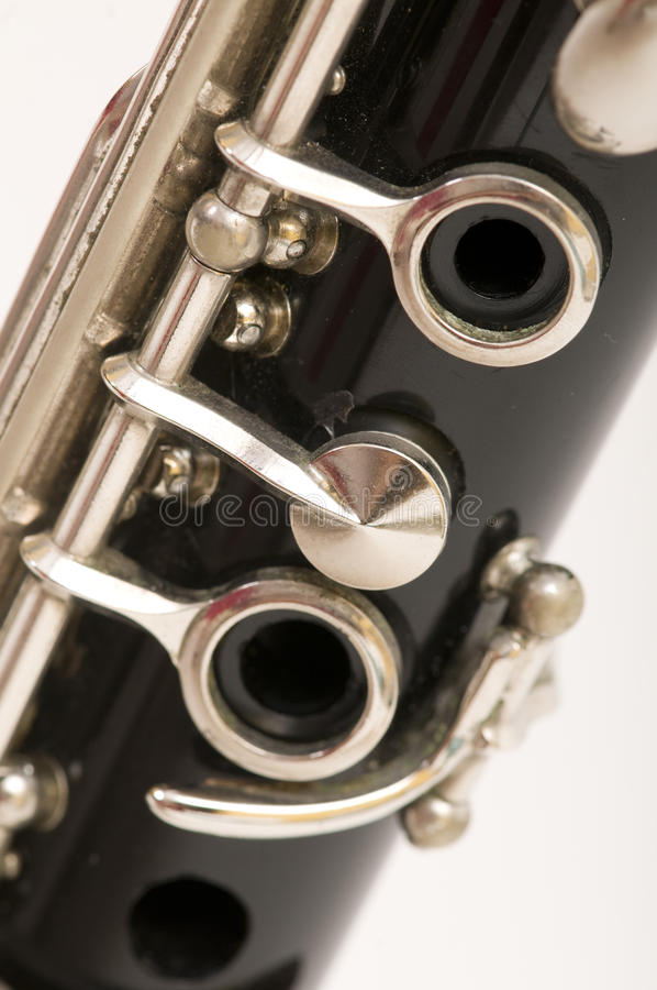 Download Clarinet stock image. Image of hole, silver, white, musical - 24792527