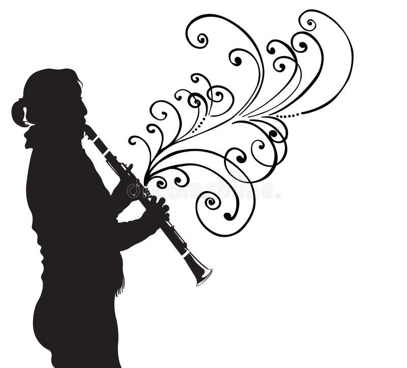 Clarinet illustrazione di stock