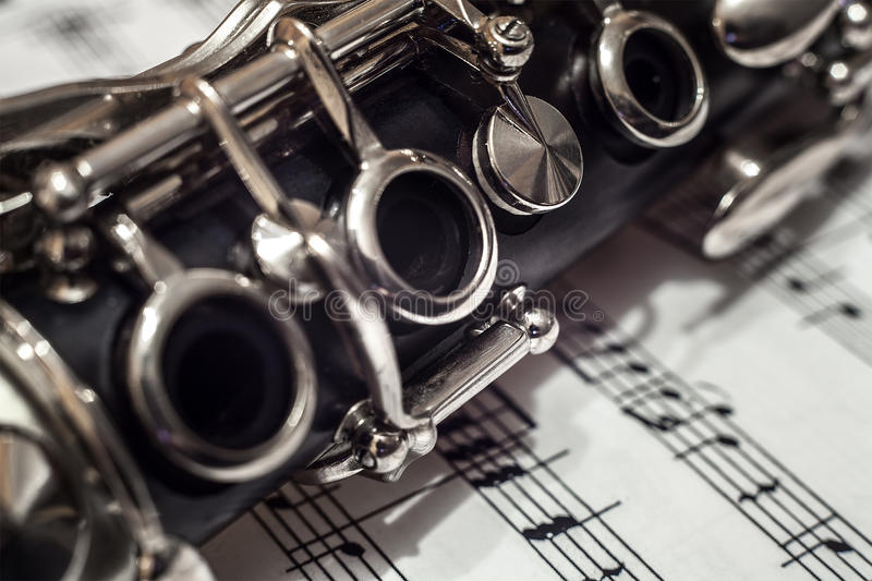 Download Clarinet close up stock photo. Image of page, jazz, blow - 28223874