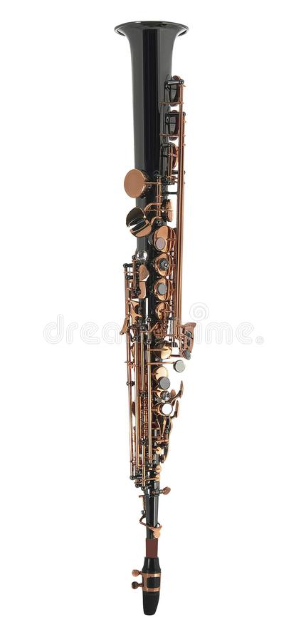 Clarinet d'isolement photographie stock