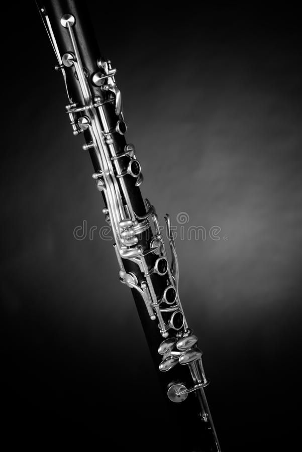 Clarinet detail royalty free stock photos