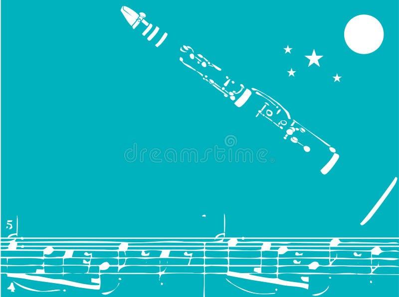 Clarinet di jazz illustrazione vettoriale