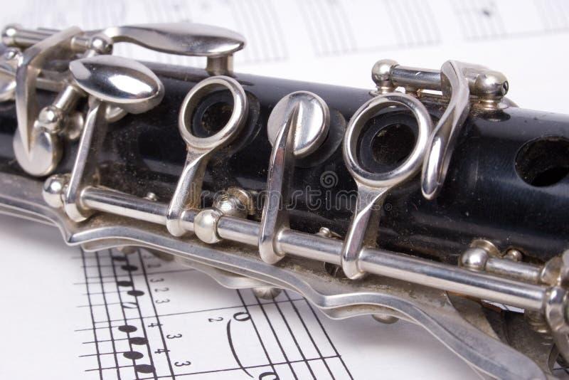 Clarinet e música fotos de stock