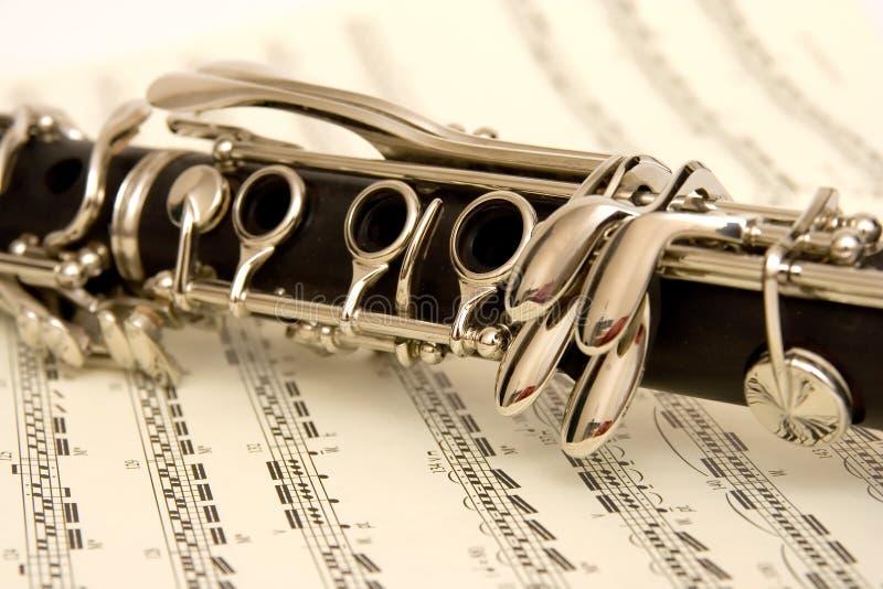 Clarinet e música foto de stock royalty free