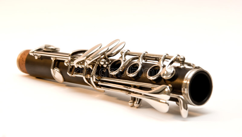 Download Clarinet Joint stock image. Image of flat, black, clarinet - 7410865