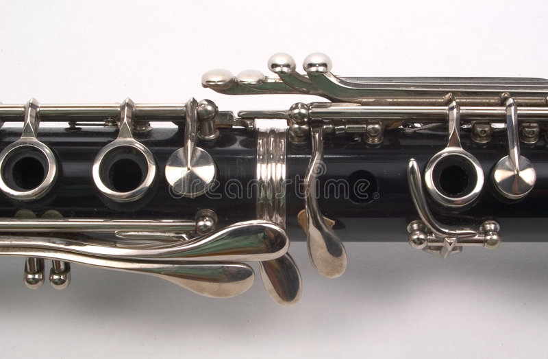Clarinet-Kapitel stockfoto