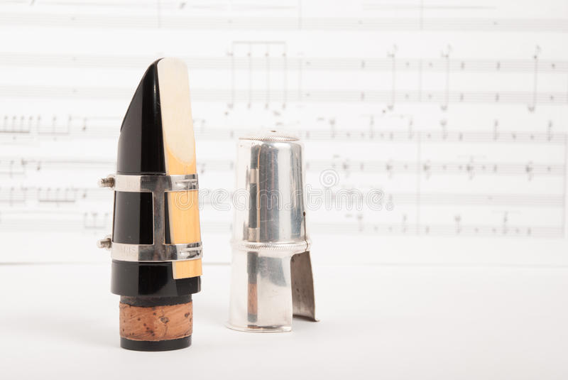 Clarinet mouthpiece royalty free stock photography