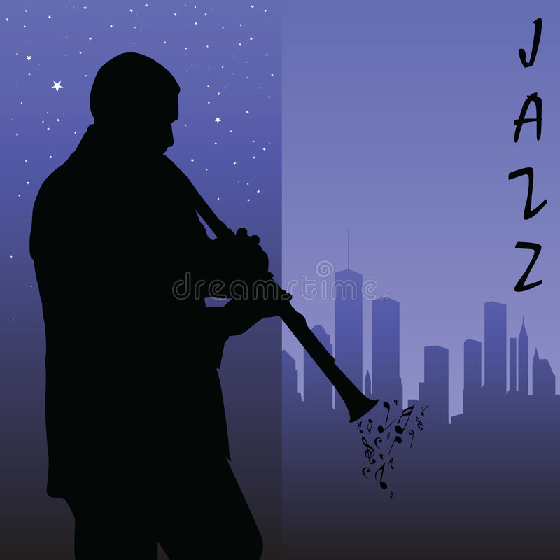 Clarinet player stock illustration
