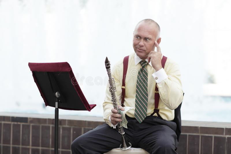 Download Clarinet Player With An Idea Stock Photo - Image: 15904178