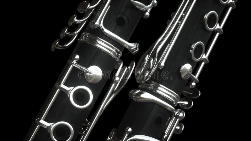 Clarinet rappresentazione 3d illustrazione di stock