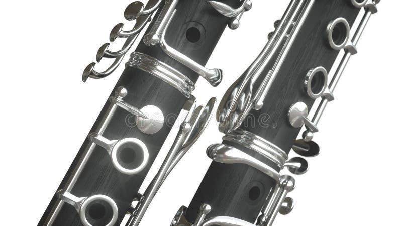 Clarinet rappresentazione 3d illustrazione vettoriale