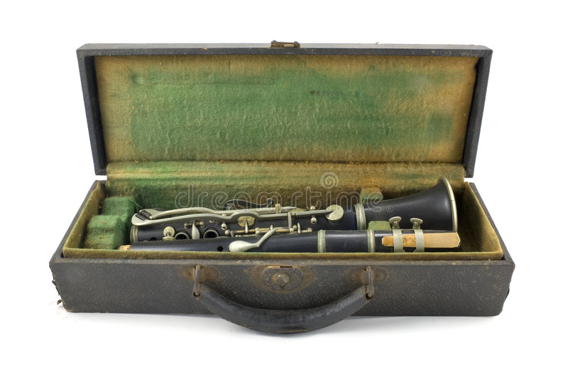 Clarinet viejo imágenes de archivo libres de regalías
