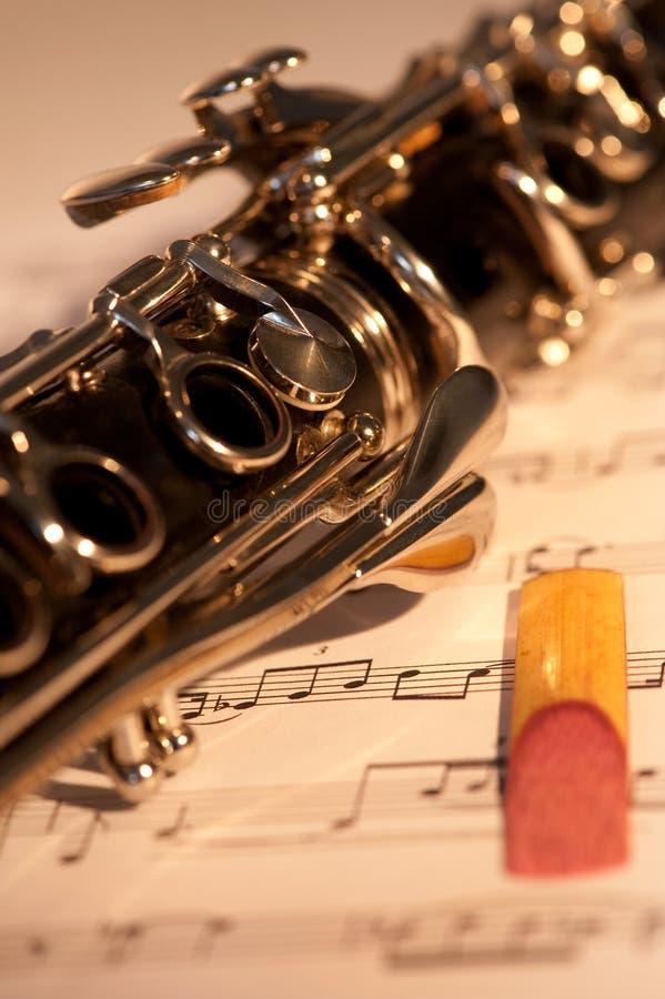 Clarinet y caña imagen de archivo