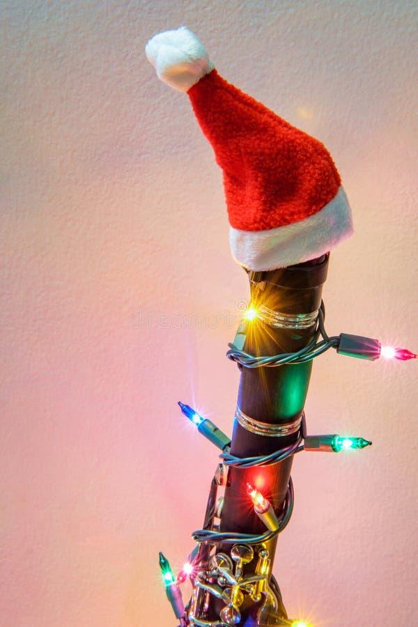 Clarinette Santa Hat de No?l photos libres de droits