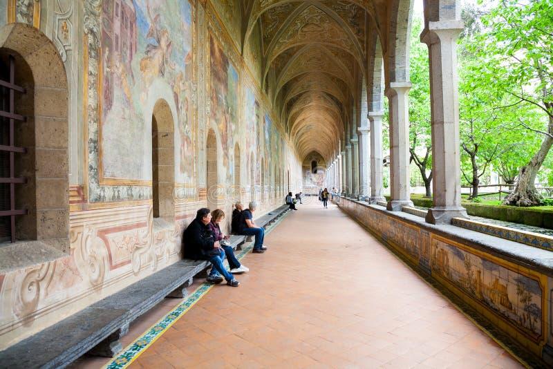 Clarisses-Kloster, Neapel stockfotos