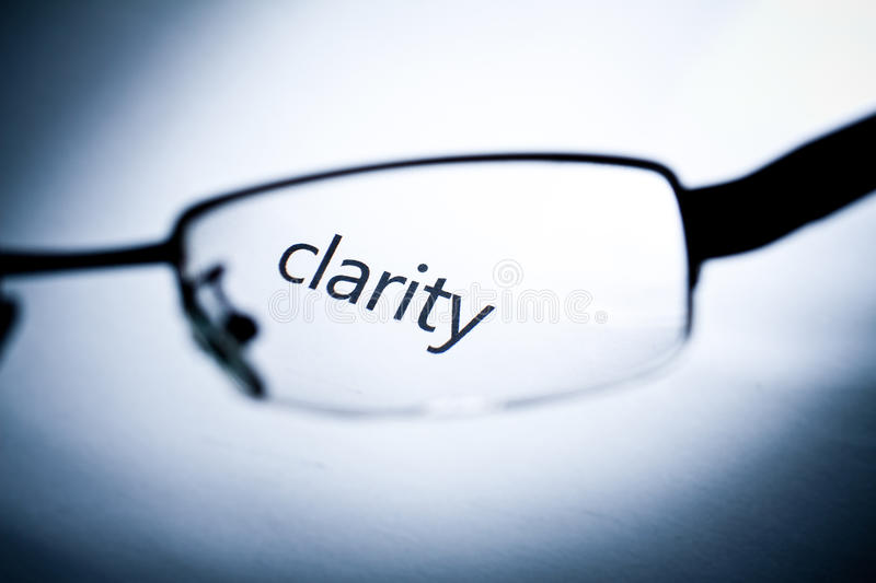 Clarity stock image