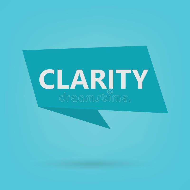 Clarity word on a sticker. Vector illustration vector illustration