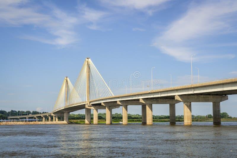 Clark Btridge nad rzeką mississippi obrazy royalty free