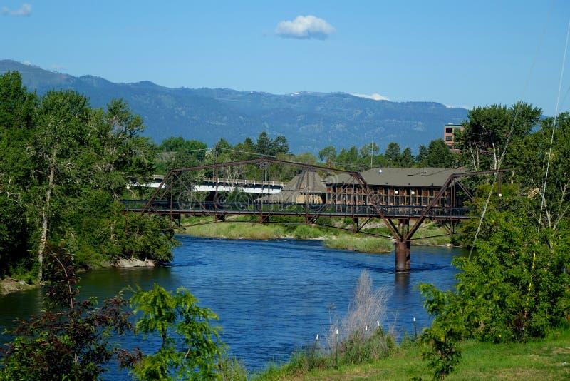 Clark Fork River - Missoula, Montana photo libre de droits