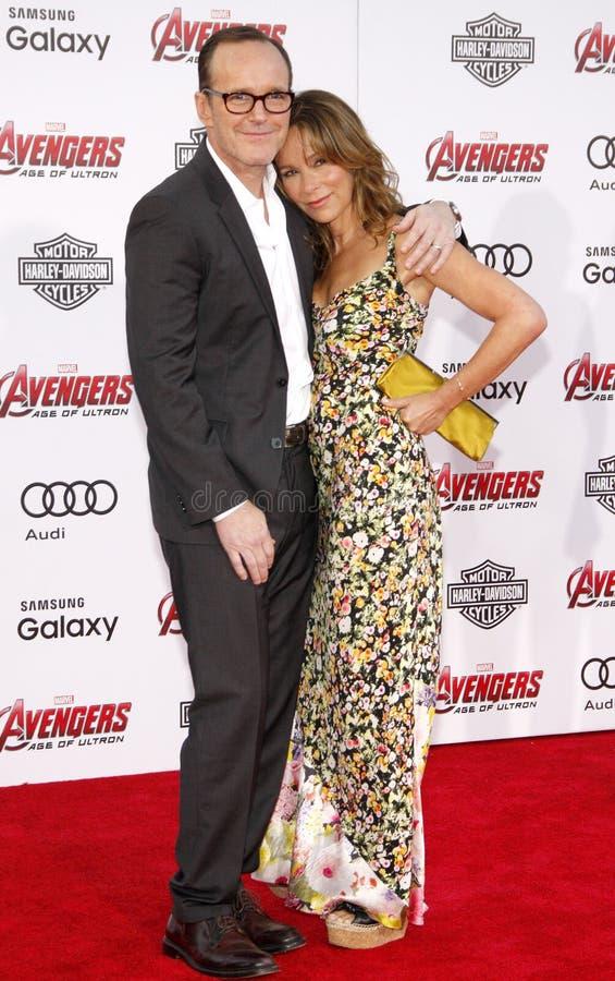 Clark Gregg και γκρι της Jennifer στοκ φωτογραφία με δικαίωμα ελεύθερης χρήσης