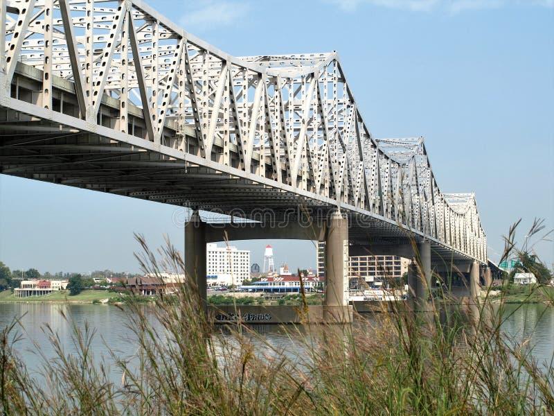 Clark Memorial Suspension Bridge photo stock