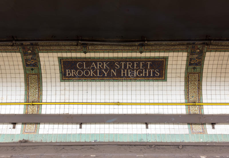 Clark Street Station - Brooklyn Heights stock photo