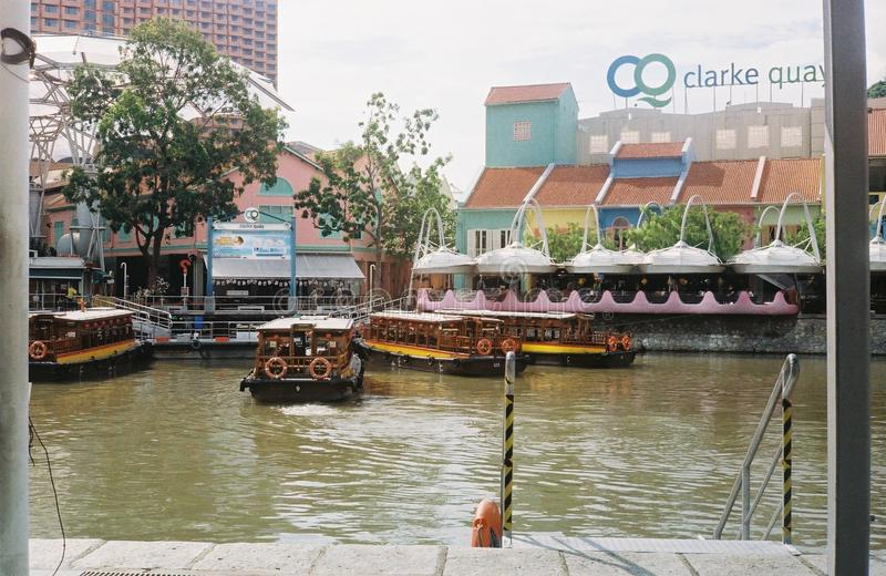 Clarke quay from the other side stock image