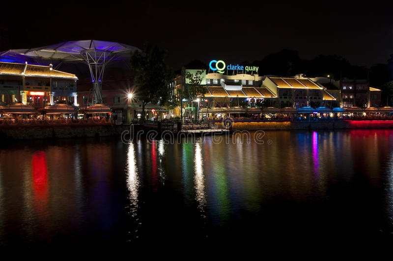 Clarke Quay riverside point at night