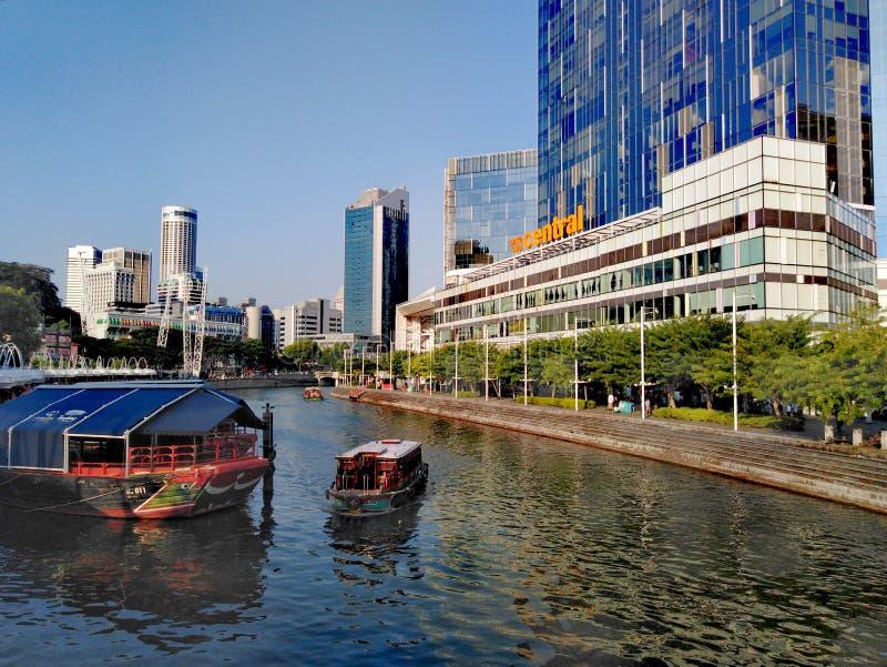 clarke quay rzeka Singapore zdjęcia stock