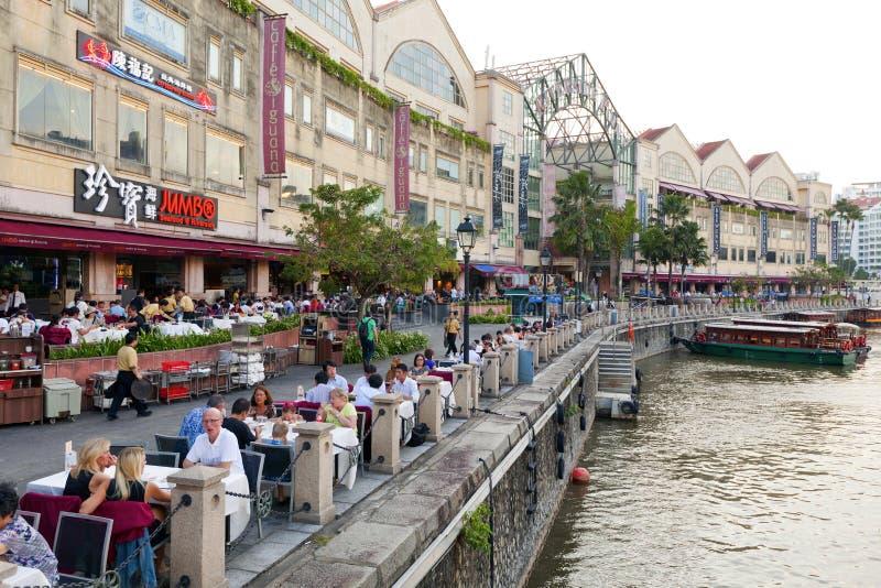 Clarke Quay Singapore royaltyfria bilder